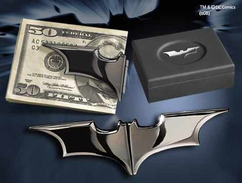 Batarang Folding Money Clip Chrome