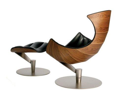 Lobster Lounge Chair Walnut Wood Frame