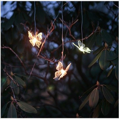 "Solar Butterfly ""Curtain Light"" Garland"