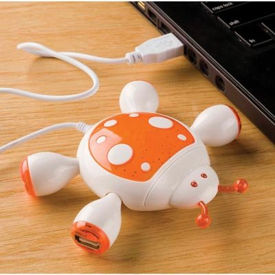Computer Laptop Usb Lady Bug 4 Port Hub