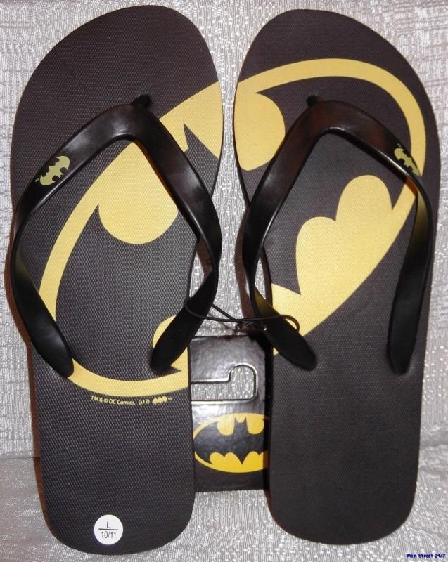 Amazon.com  DC Comics BATMAN Logo Men's FLIP-FLOP Sandals - Size Medium (M) - MAIN