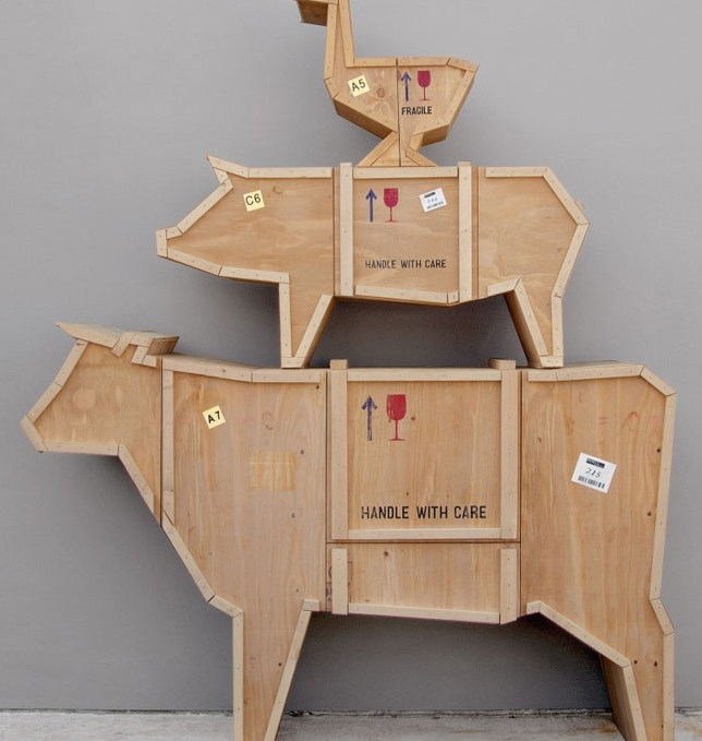Sending Animals Cabinet Cow