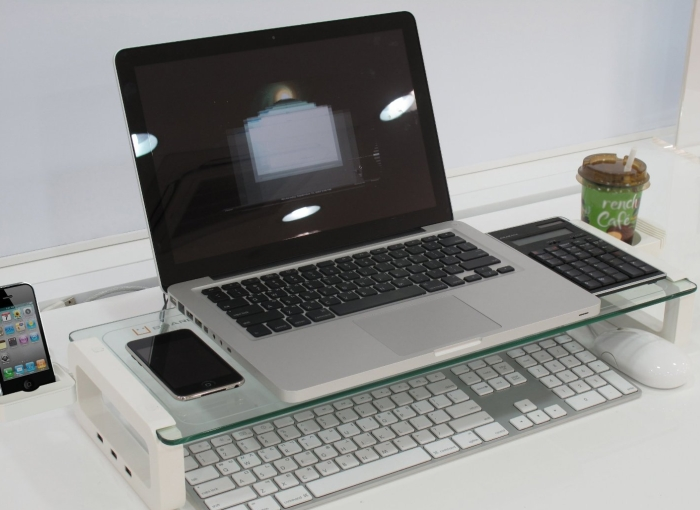 Monitor Stand and Multi-function Board with built-in 3 Port USB 2.0