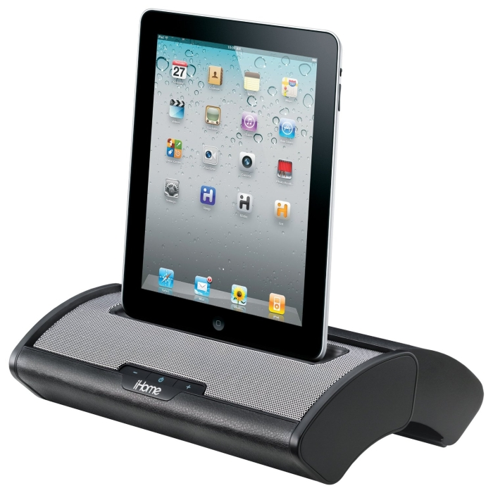 Portable Stereo System with Sliding Cover for iPhone/iPad/iPod