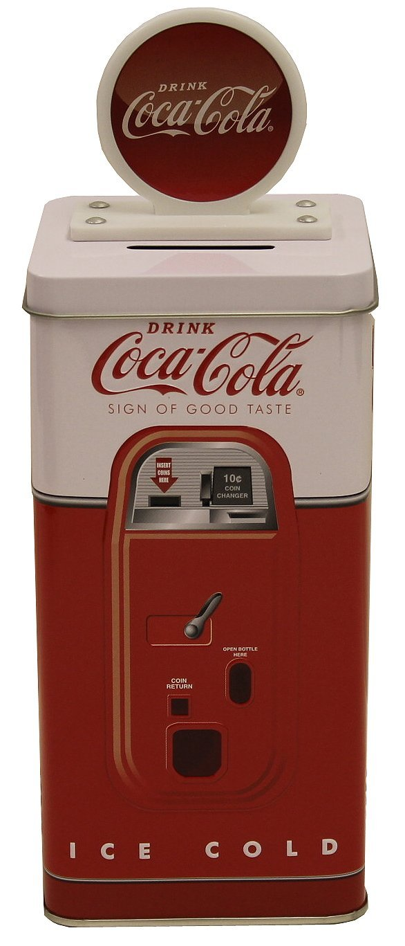 Coca Cola Tall Beverage Machine Bank