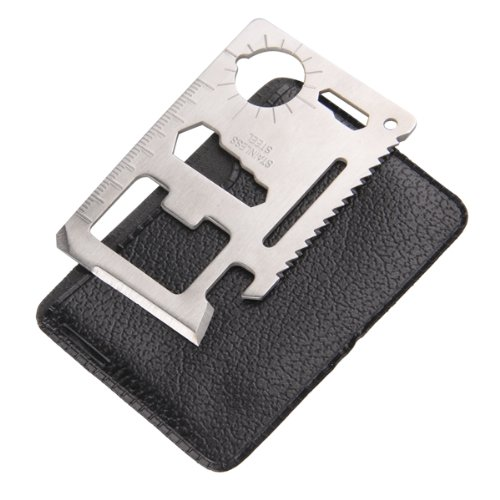 11 in 1 Multi Emergency Survival Pocket Knife Tool Credit Card Steel