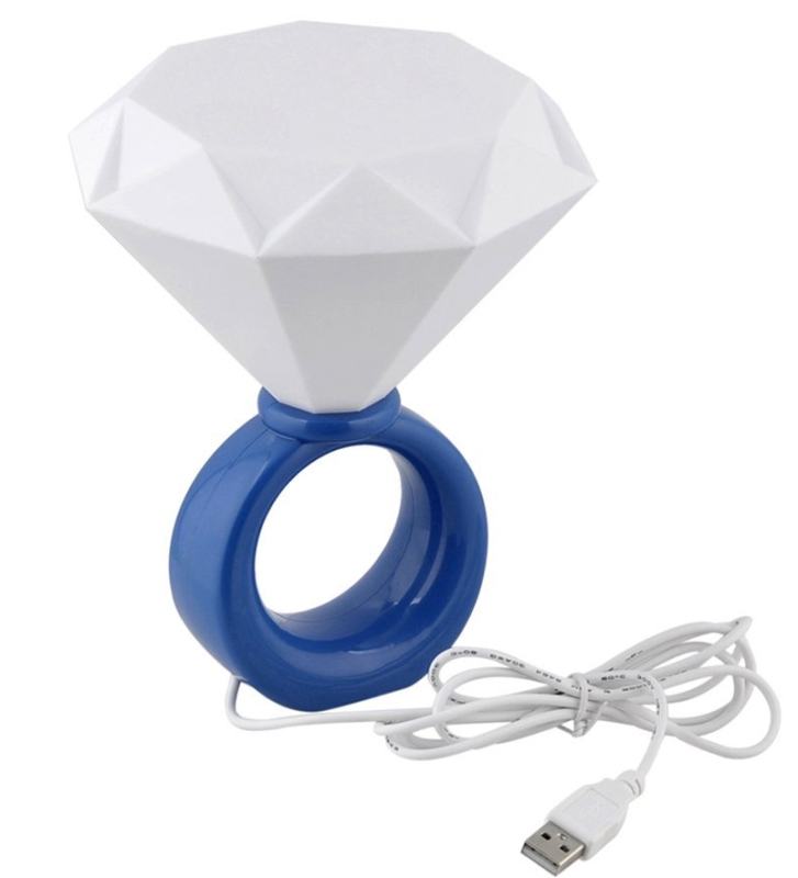 USB Diamond Ring Shape Lamp Night Light