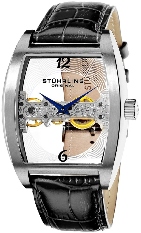 Stuhrling Original Men's Leather Strap Watch