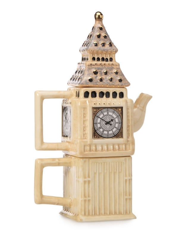Ceramic UK Themed Big Ben Teapot and Cup Set