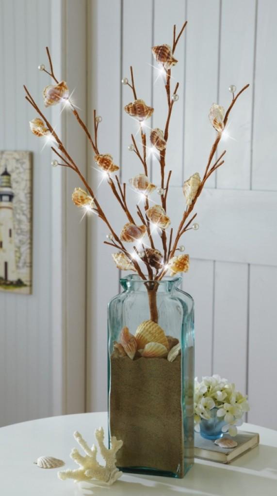 Beach seashell led lighted branch decorations gadgets matrix