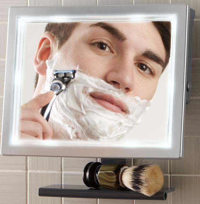 Pivoting Fog Free LED Shower Mirror