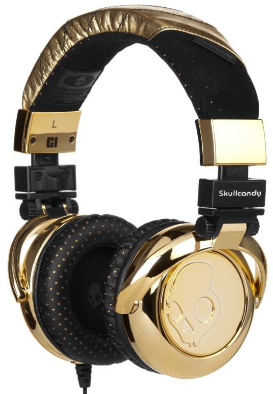 Gold Stereo Headphones