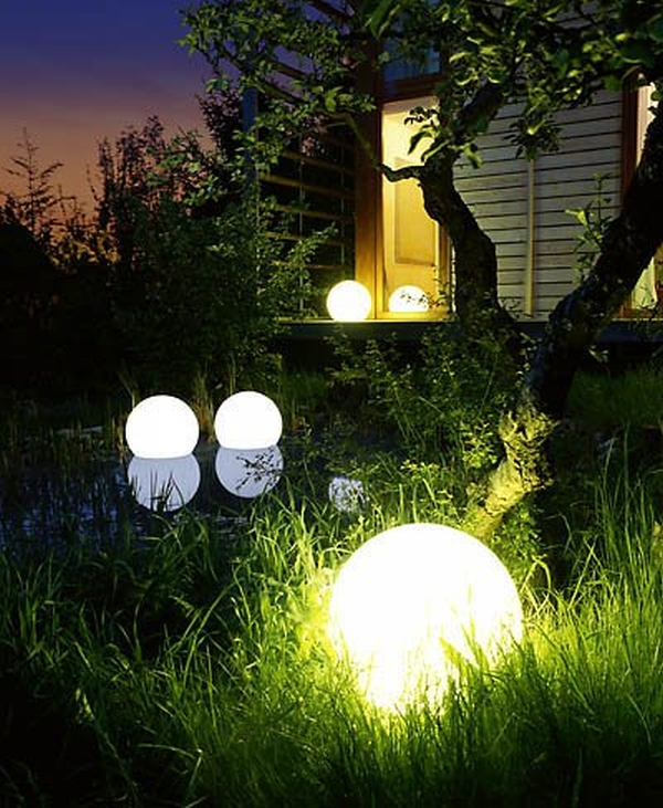 Outdoor LED 16″ Round Ball with Remote Control
