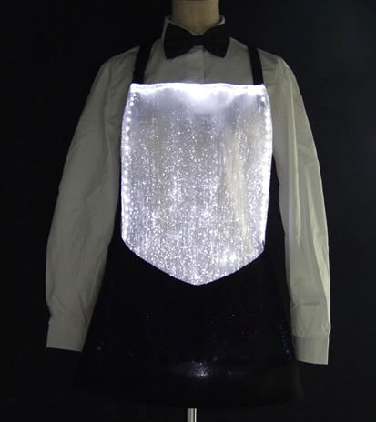 Luminous fiber optics apron