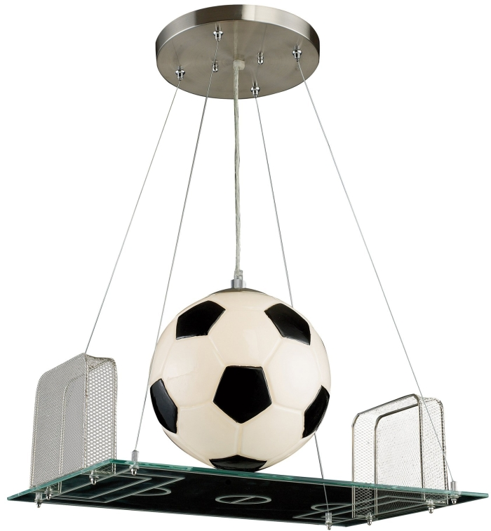 Light Pendant In A Soccer Field Motif