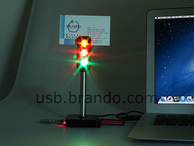 USB Traffic Light 3-Port Hub II