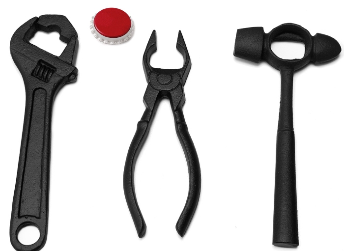 CAST IRON TOOL BOTTLE OPENERS