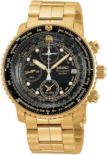 Seiko Men's Flight Alarm Chronograph Watch