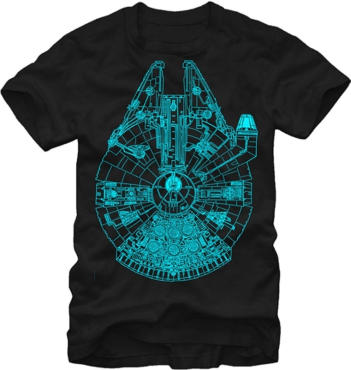 Star Wars Blue Glow in the Dark Falcon Men