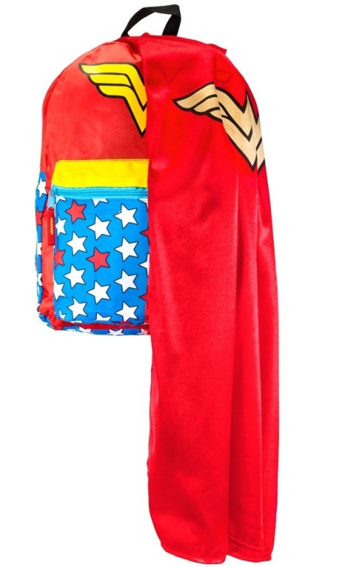 Wonder Woman RED Backpack W/cape