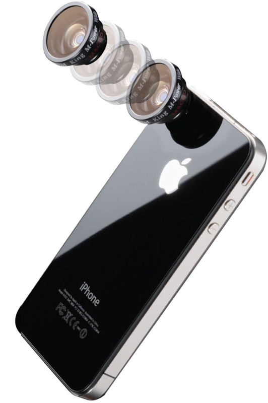 2-in1 Wide and Macro Conversion Lens with Magnet Mount for iPhone 5