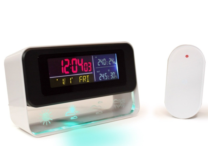 Ambient Home Weather Forecast Station and Digital Alarm Clock