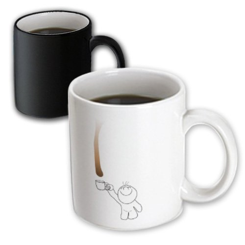 Chocolate or coffee drop with mug
