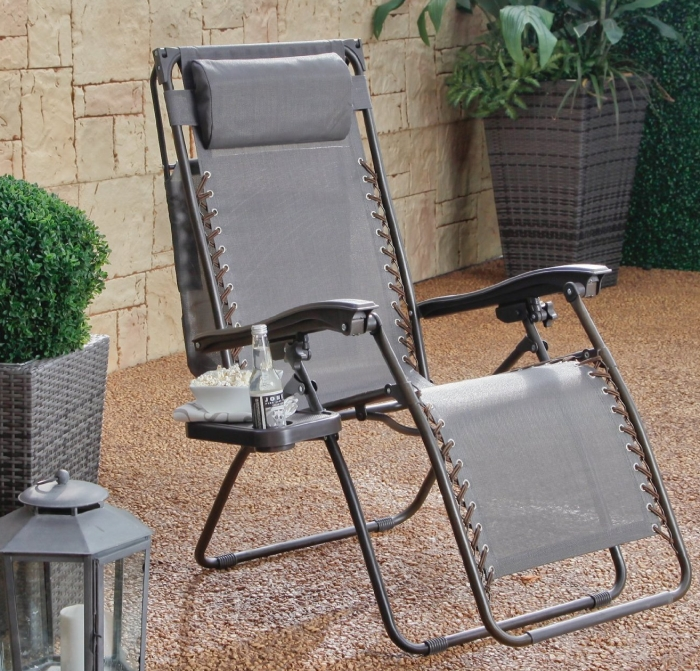 Zero Gravity Recliner with Sunshade and Drink Tray