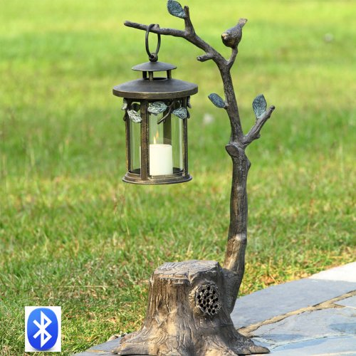 Bird on Branch Lantern w/ Bluetooth Speaker