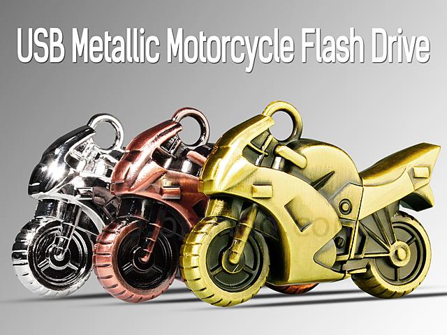 USB Metallic Motorcycle Flash Drive