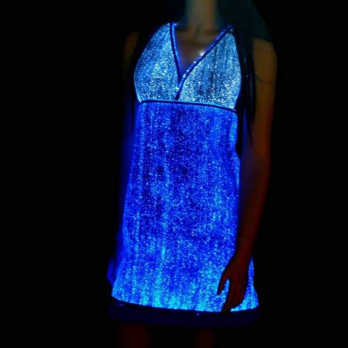 Luminous fiber optics Short Dress 3b