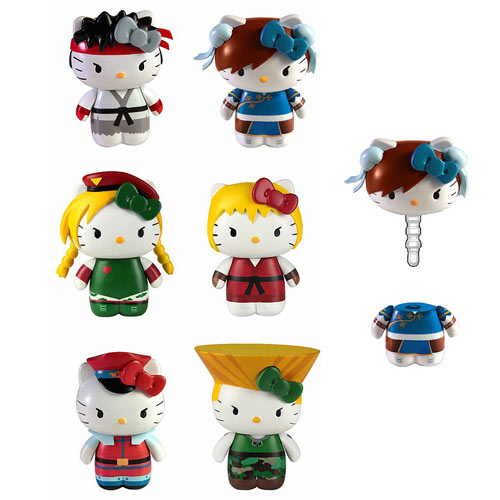 Street Fighter Hello Kitty Figural Cell Phone Jack Cover Set
