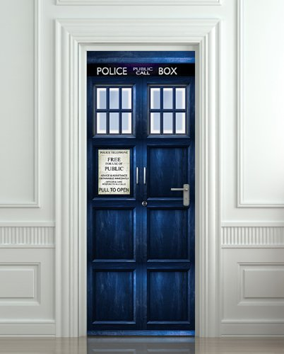 Wall Door Sticker Tardis Doctor Dr Who Gadgets Matrix
