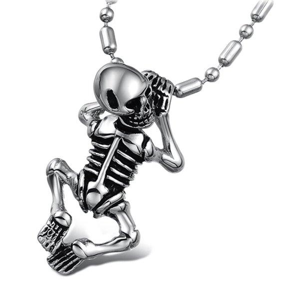 90% Discount: Skull Pendant Necklace for Men Fashion