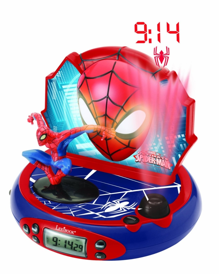Spider Man Projection Clock Radio