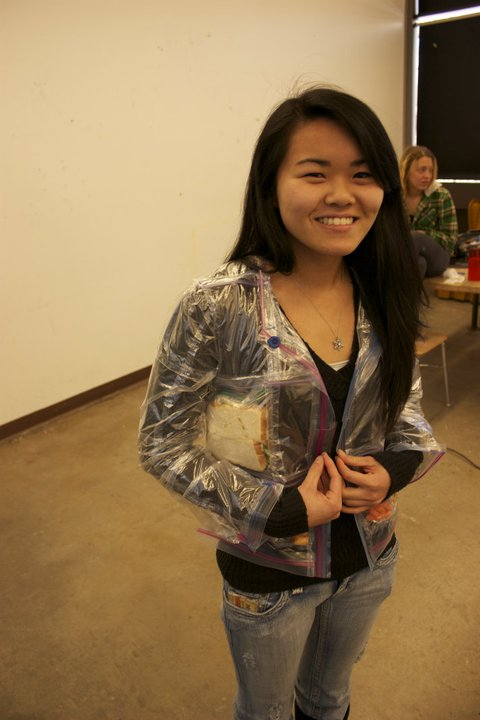 A Jacket Made from Ziploc Bags