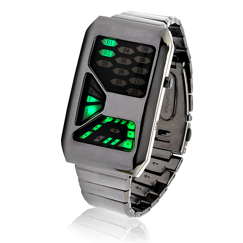 "LED Light Watch ""Emerald """