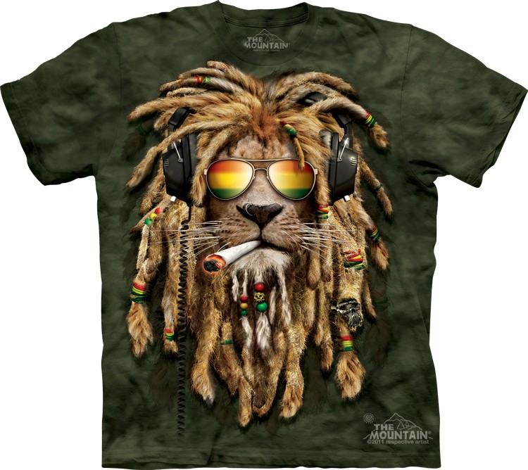 Lion Shirt Rasta Smokin' Jahman T-shirt
