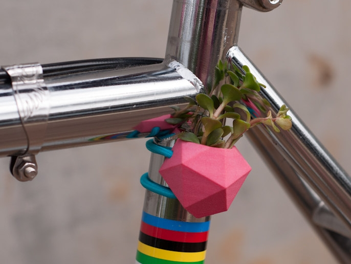 Geometric Bike Planter