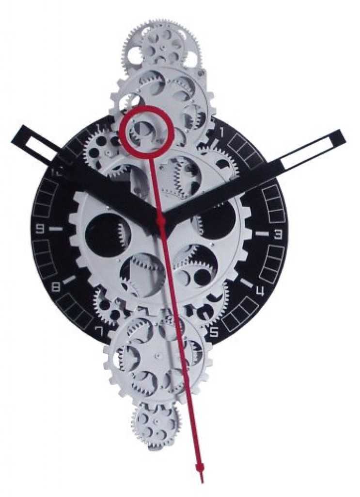 Large Moving Gear Wall Clock Gadgets Matrix