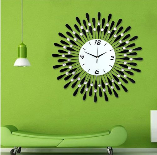 Modern Crystal Metal Wall Clock
