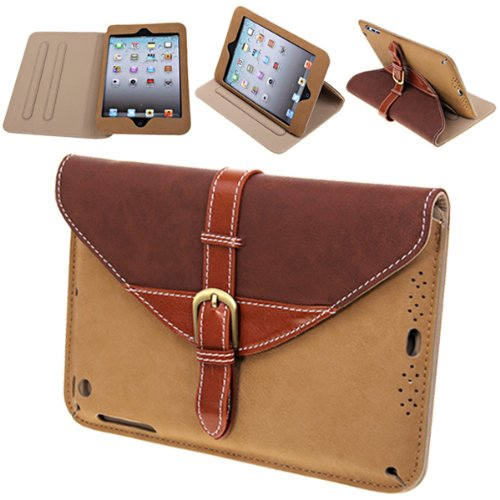 Brown Case Smart Cover Stand for iPad 2, 3 & 4
