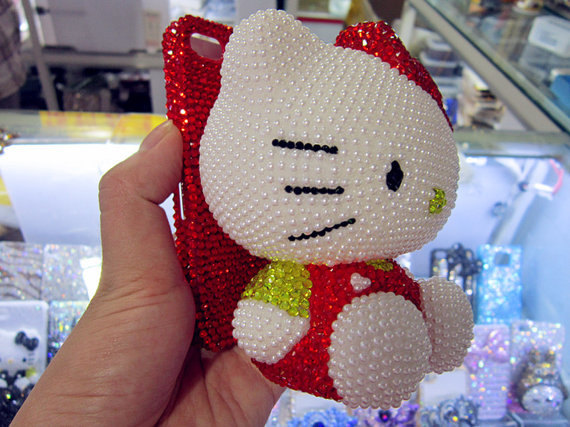 3D dolls Swarovski Crystal iPhone Case