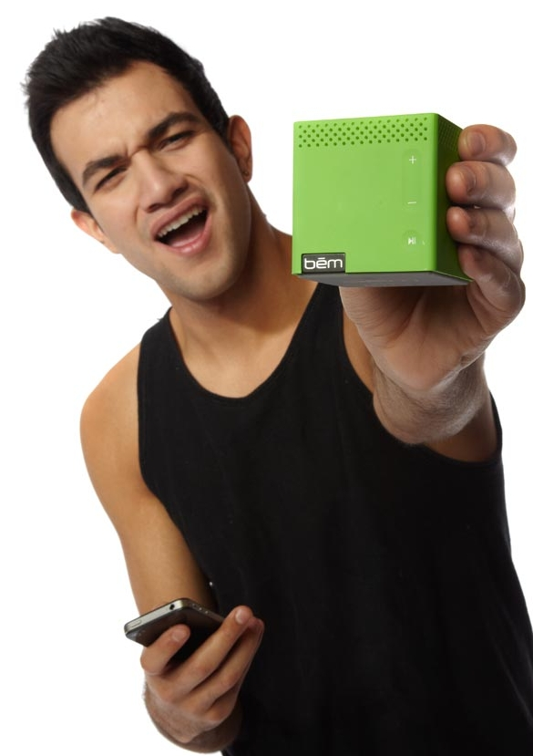 Green Bluetooth Mobile Speaker for Smartphones