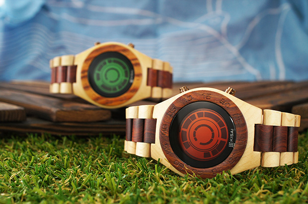Kisai Rogue SR2 Wood LCD Watch