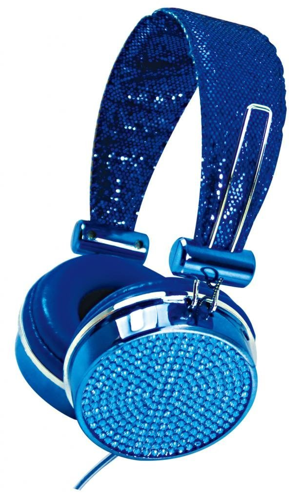 Blue Crystal  Headphones