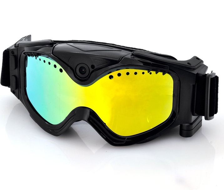 Skiing Goggles With Built-In Action Camera