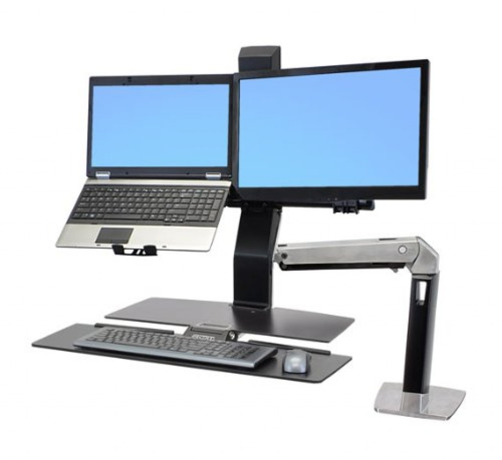 Ergotron Workfit A Clamp For Lcd And Laptop With