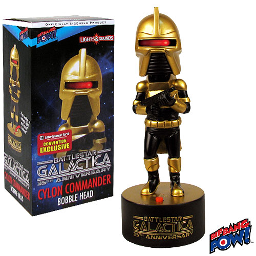 Battlestar Galactica Cylon Commander (Gold) Bobble Head with Lights and Sound