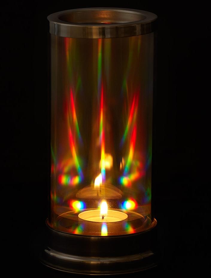 Rainbow Crystal Prism Candle Lantern